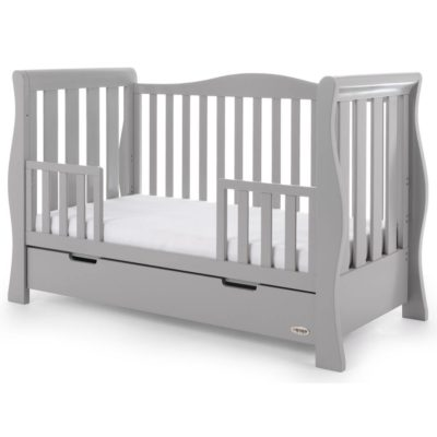 Obaby Stamford Luxe Sleigh Cot Bed - Warm Grey 6