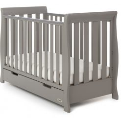 Obaby Stamford Mini Sleigh 2 Piece Room Set - Taupe Grey 4