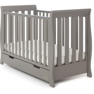 Obaby Stamford Mini Sleigh 2 Piece Room Set - Taupe Grey 4