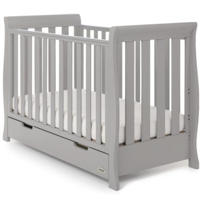 Obaby Stamford Mini Sleigh 2 Piece Room Set - Warm Grey 2
