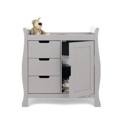 Obaby Stamford Mini Sleigh 2 Piece Room Set - Warm Grey 3