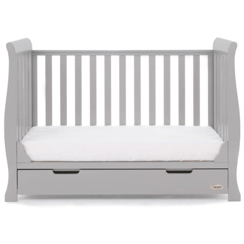 Obaby Stamford Mini Sleigh 2 Piece Room Set - Warm Grey 5