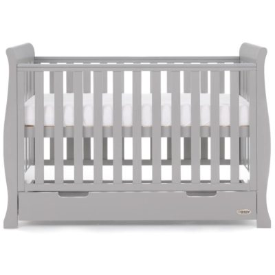 Obaby Stamford Mini Sleigh 2 Piece Room Set - Warm Grey 7