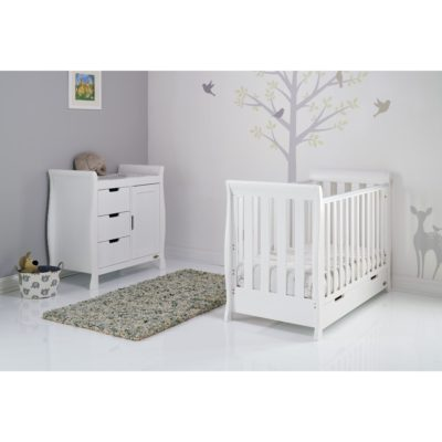 Obaby Stamford Mini Sleigh 2 Piece Room Set - White