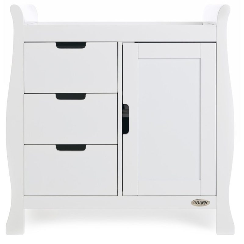 Obaby Stamford Mini Sleigh 2 Piece Room Set - White 6