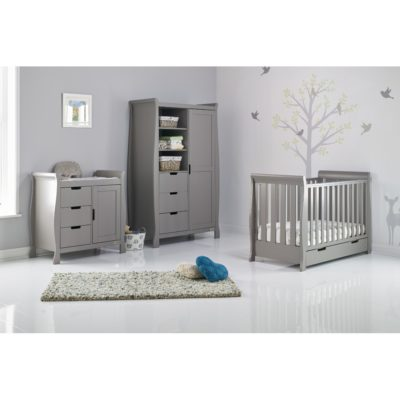 Obaby Stamford Mini Sleigh 3 Piece Room Set - Taupe Grey