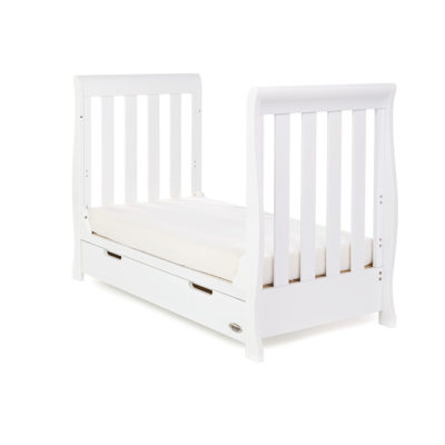 Obaby Stamford Mini Sleigh Cot Bed - White 2
