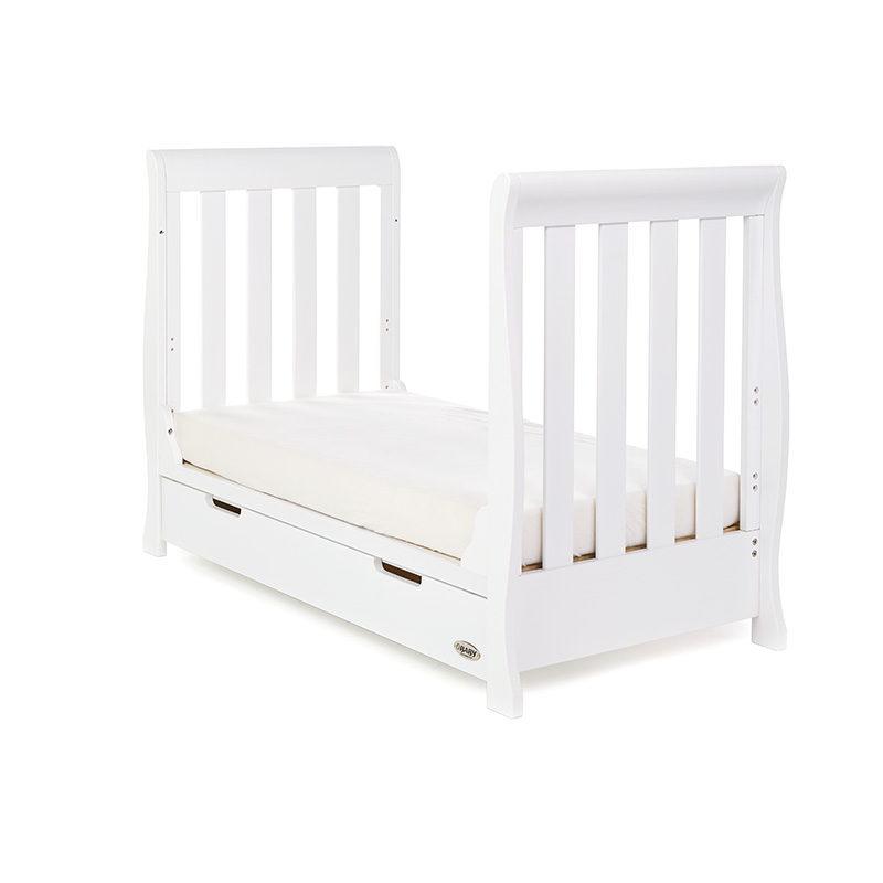 Obaby Stamford Mini Sleigh Cot Bed - White 2