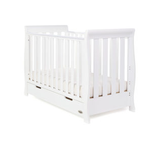 Obaby Stamford Mini Sleigh Cot Bed - White