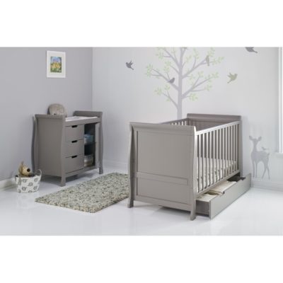 Obaby Stamford Sleigh 2 Piece Room Set - Taupe Grey 2