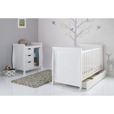 Obaby Stamford Sleigh 2 Piece Room Set - White 2