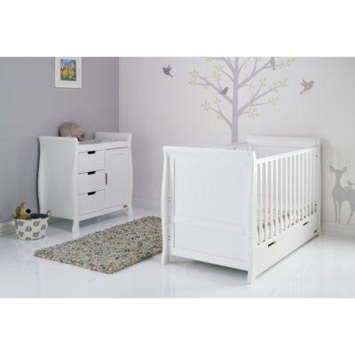 Obaby Stamford Sleigh 2 Piece Room Set - White