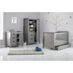 Obaby Stamford Sleigh 3 Piece Room Set - Taupe Grey 2