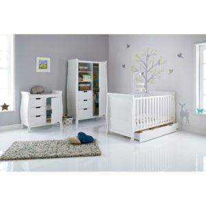 Obaby Stamford Sleigh 3 Piece Room Set - White 2