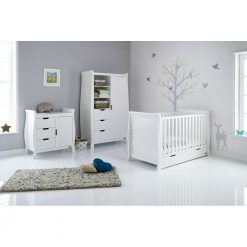 Obaby Stamford Sleigh 3 Piece Room Set - White