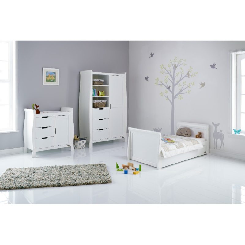 Obaby Stamford Sleigh 3 Piece Room Set - White 3