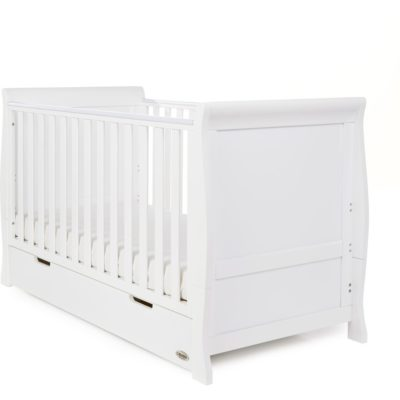 Obaby Stamford Sleigh 3 Piece Room Set - White 4