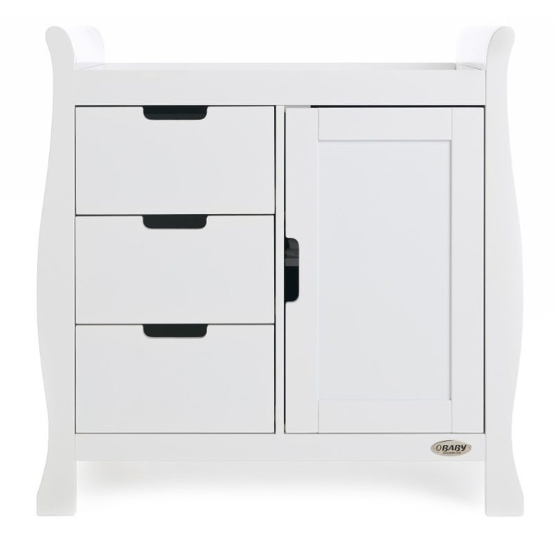 Obaby Stamford Sleigh 3 Piece Room Set - White 6