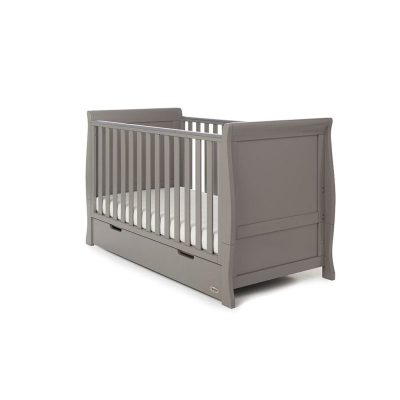 Obaby Stamford Sleigh 4 Piece Room Set - Taupe Grey 2
