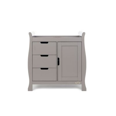 Obaby Stamford Sleigh 4 Piece Room Set - Taupe Grey 3