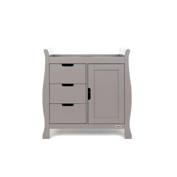 Obaby Stamford Sleigh 4 Piece Room Set - Taupe Grey 3