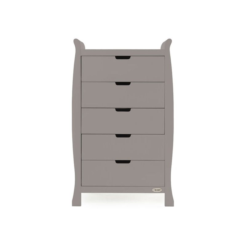 Obaby Stamford Sleigh 4 Piece Room Set - Taupe Grey 4