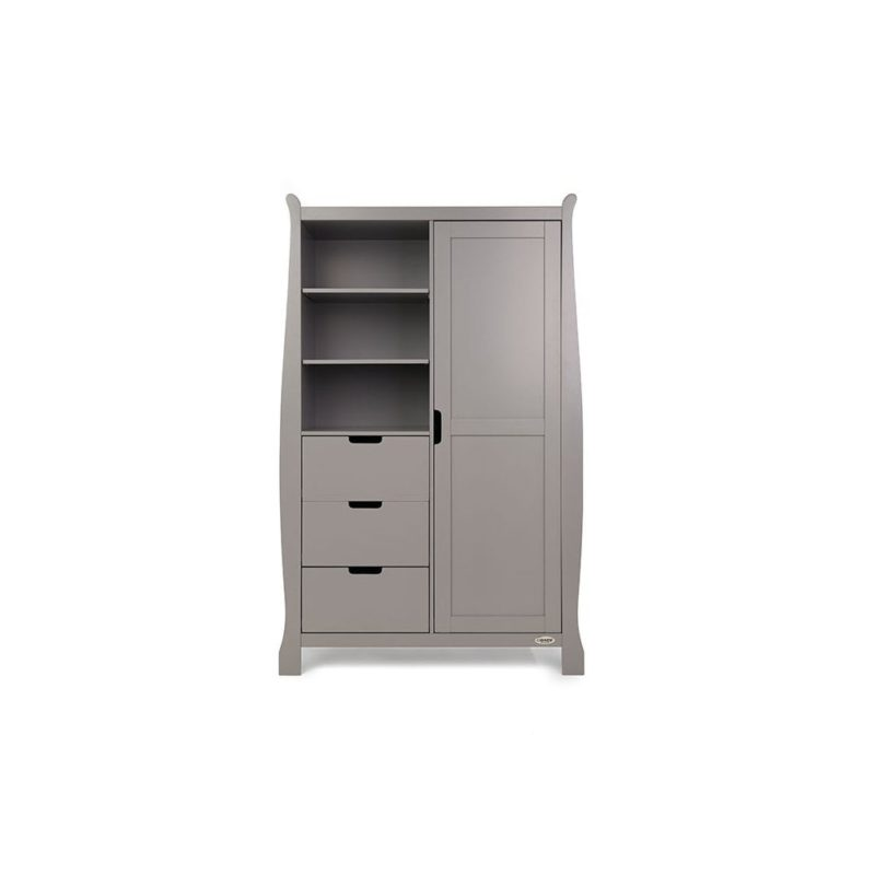 Obaby Stamford Sleigh 4 Piece Room Set - Taupe Grey 5