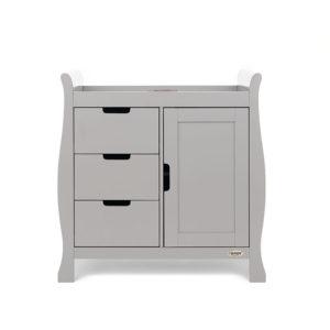 Obaby Stamford Sleigh Changing Unit - Warm Grey