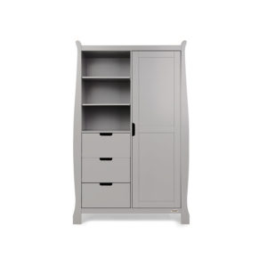 Obaby Stamford Sleigh Double Wardrobe - Warm Grey