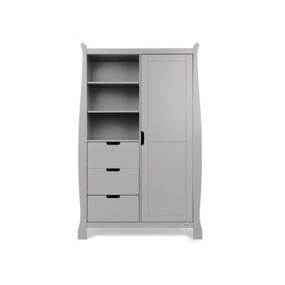 Obaby Stamford Sleigh Double Wardrobe - Warm Grey