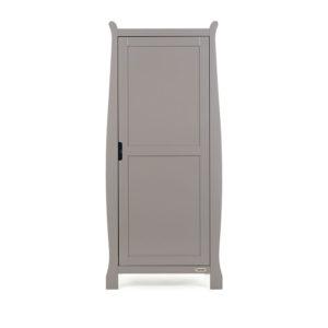 Obaby Stamford Sleigh Single Wardrobe - Taupe Grey