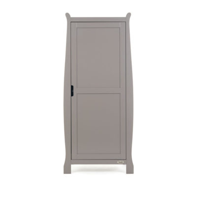 Obaby Stamford Sleigh Single Wardrobe - Taupe Grey