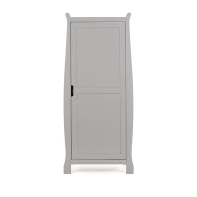 Obaby Stamford Sleigh Single Wardrobe - Warm Grey