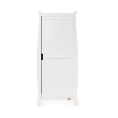 Obaby Stamford Sleigh Single Wardrobe - White