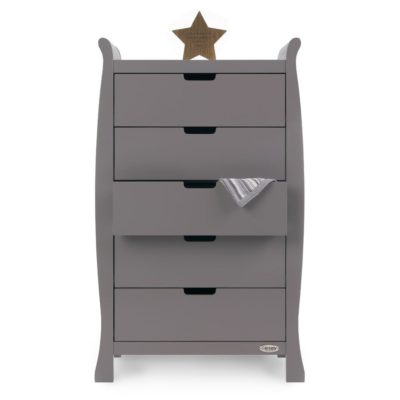 Obaby Stamford Sleigh Tall Chest of Drawers - Taupe Grey 2