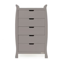 Obaby Stamford Sleigh Tall Chest of Drawers - Taupe Grey