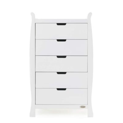 Obaby Stamford Sleigh Tall Chest of Drawers - White 2