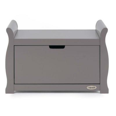 Obaby Stamford Sleigh Toy Box - Taupe Grey