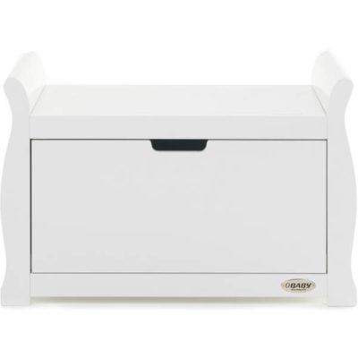 Obaby Stamford Sleigh Toy Box - White 2