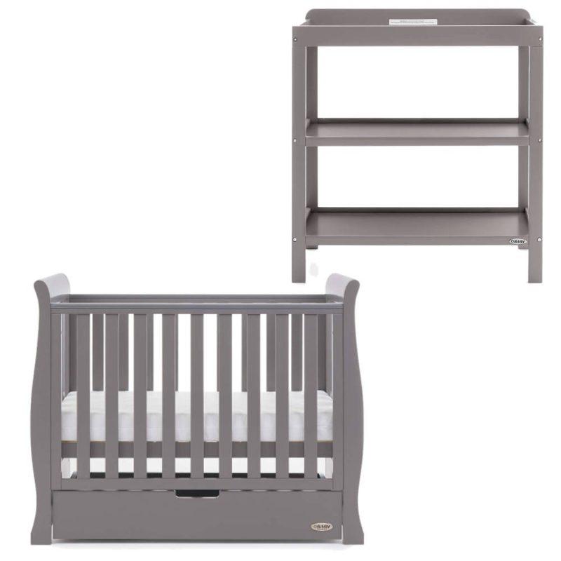 Obaby Stamford Space Saver 2 Piece Room Set - Taupe Grey
