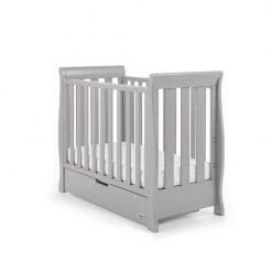 Obaby Stamford Space Saver Cot - Warm Grey