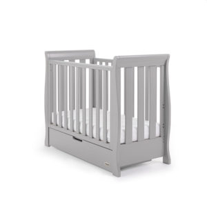 Obaby Stamford Space Saver Cot - Warm Grey