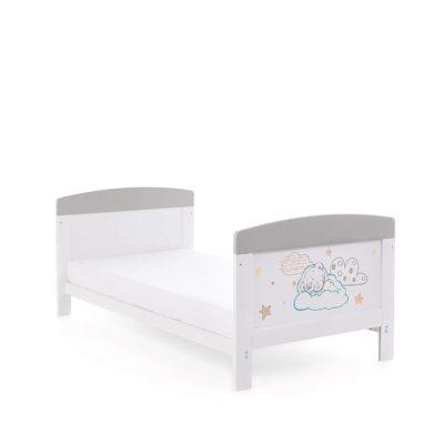 Obaby Tiny Tatty Teddy Cot Bed - Grey 2