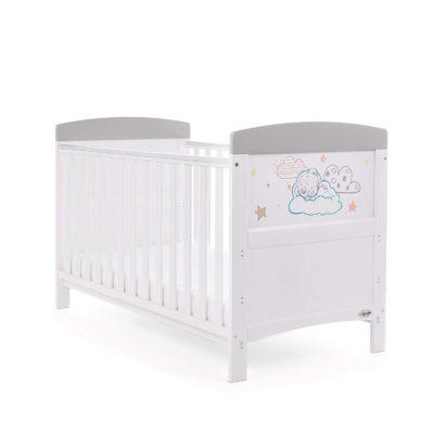 Obaby Tiny Tatty Teddy Cot Bed - Grey
