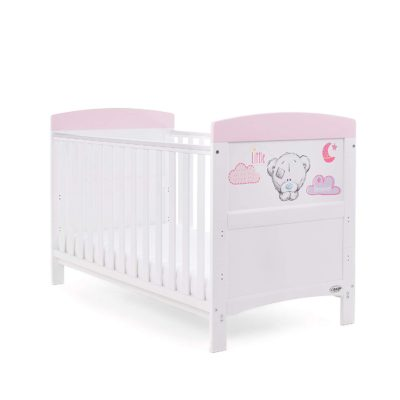 Obaby Tiny Tatty Teddy Cot Bed - Pink