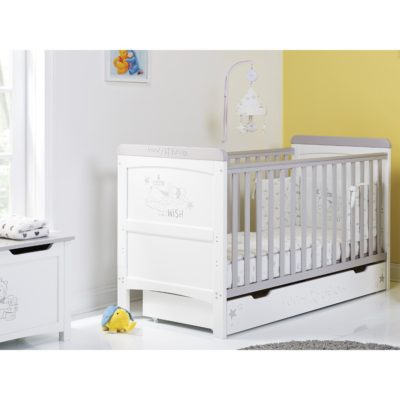 Obaby Winnie the Pooh Deluxe Cot Bed and Underdrawer - Dreams and Wishes 5