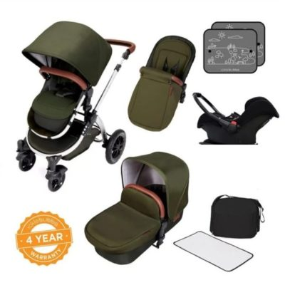 ickle bubba V4 woodland bronze travel system