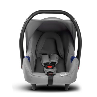 kinderkraft mink travel system 3 in 1 grey 0+ car seat