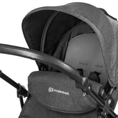 kinderkraft moov 3 in 1 travel system close up graphite grey