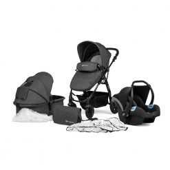kinderkraft moov 3 in 1 travel system graphite grey